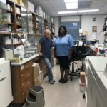 Tammy meeting her lab mentor, first day