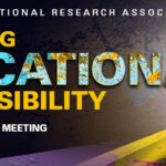 "Graphic that says ""Accepting Educational Responsibility""  AERA virtual meeting."