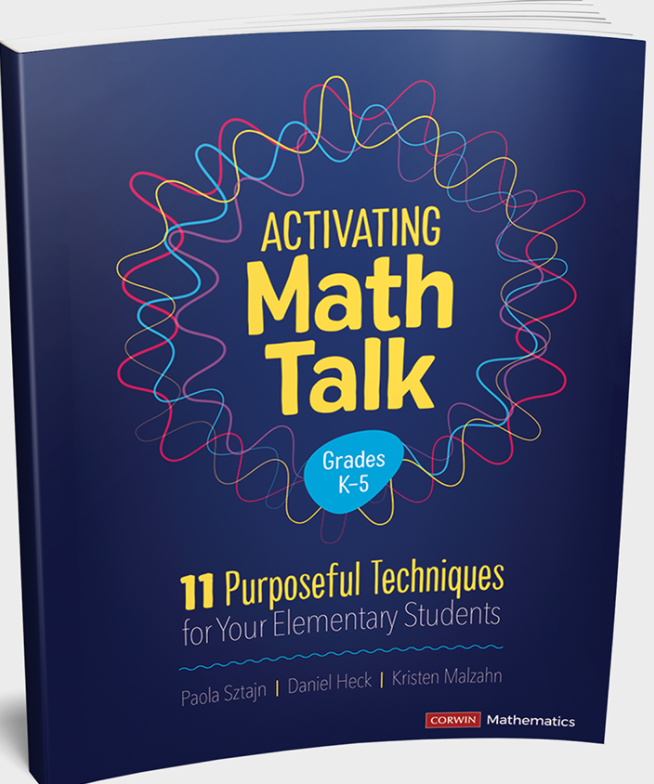 The book cover for Activating Math Talk